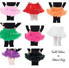 CHILDRENS PETTICOAT Fluffy Tulle Layered crinoline Childs Costume tutu S/M M/L