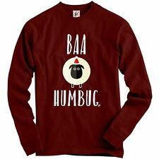 Baa Humbug White Sheep Bah Humbug Adult Christmas Jumper Sweatshirt