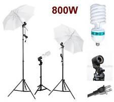 800W Photo Video Studio Light Umbrella Lighting Kit Set
