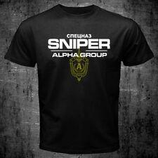 New Russian Soviet Spetsnaz Alpha Group Special Force SNIPER T-shirt