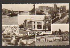PUTEAUX (92) POSTE / PONT / PISCINE / PENICHE en 1950
