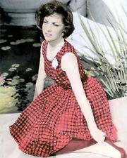 "GINA LOLLOBRIGIDA ITALIAN BORN HOLLYWOOD ACTRESS 8x10"" HAND COLOR TINTED PHOTO"