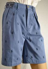 POLO Ralph Lauren Men Blue Logo Golf Shorts/Multi-Ponies Size 31 NWT