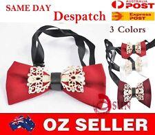 Mens White Red Burgundy Crystal Diamond Looks Design Bow Tie Bowties Wedding Par
