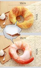 Shrimp Croissant U shape Creative Throw Pillow Plush Neck Cushion Soft