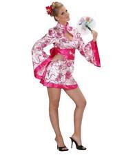 Costume Carnevale Donna Geisha Rosa PS 22766 Abito Kimono Giapponese