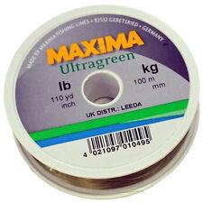 Maxima Ultra Green 100m Monofilament Fishing Line from 4lb-15lb
