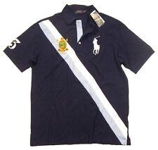 Polo Ralph Lauren Big & Tall Men's French Navy Big Pony Sash Stripe Polo Shirt