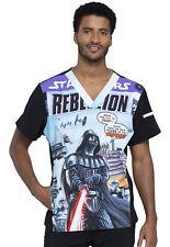 Darth Vader Cherokee Scrubs Tooniforms Star Wars Mens V Neck Top TF708 SREL