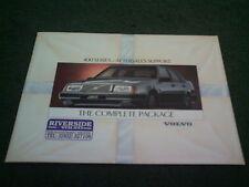 1990 Volvo 440 460 480 soporte posventa-Reino Unido 12 página folleto de color