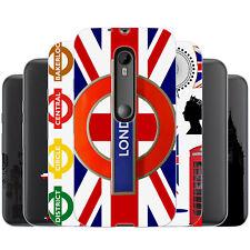 dessana London Muster Silikon Schutz Hülle Case Handy Tasche Cover für Motorola