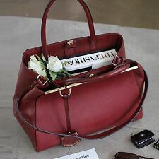 New PREMIUM ITALY CALFSKIN TWOJOURS MEDIUM Ver. Shoulder Tote Bag Womens Handbag