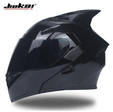 JIEKAI Full Face Motorcycle Shark Helmet Modular Inner Sun Visor Double Lens