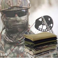 Camo Khaki Military Army Mesh Tactical Neck head Scarf Wrap Sniper Veil Mask