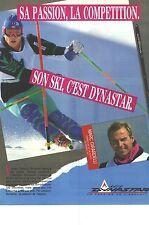 PUBLICITE ADVERTISING 1990  DYNASTAR skis par MARC GIRARDELLI