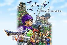 RGC Huge Poster - Dragon Quest V Art Nintendo DS 3DS SNES PS2 Warrior - DQX015