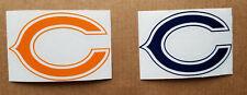 "Chicago Bears ""C"" logo 3"" Blue or Orange Vinyl Decal Truck Car Window"