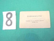 Gioco MONOPOLI vintage in lire 1 CARTA probabilità n. 8