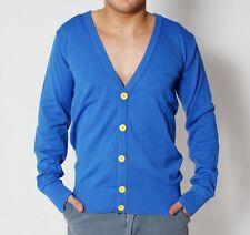 RVLT Revolution Justin Knit Cardigan Strickjacke blau Herren Strick Jacke blue