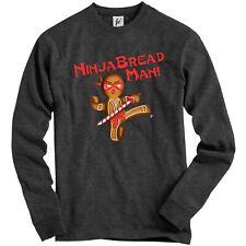 Ninja BREAD MAN pan de jengibre Ninja Con Espada Adulto Sudadera Jumper De Navidad