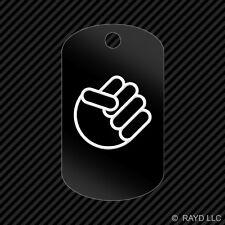 Shocker Fist Keychain GI dog tag engraved many colors  jdm