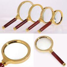 Handlupe 6 Fach 60mm, 70mm, 80mm, 90mm Leselupe Lupe Vergrößerungsglas Lesehilfe