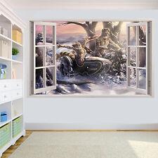 BICI MAGICA ANIMALI Equitazione effetto 3d Adesivo Muro Decorazione per Soggiorno Decalcomania Murale