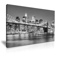 Nueva YORK Puente de Brooklyn LONA pared arte Foto impresión Decoración 5 Tamaños Elegir