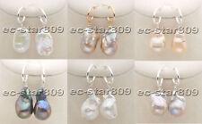 D0341 Big BAROQUE & DROP KESHI Reborn Pearl Dangle Earring