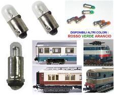 SET N.2 MICRO LAMPADA ROSSA 12V-19V 35mA mm.2,8x4 per LOCOMOTORI SCALA N ed HO
