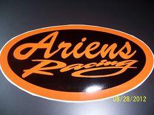 "1- 4"" X 7"" Ariens Racing New (Orange and Black) Vinyl Sticker L@@K"