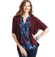 NWT Ann Taylor Loft Raisin Intricate Pointelle Stitch Cardigan Sweater $59 XS-L