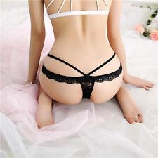 Nice Women Sexy Thongs G-string Panties Knickers Underwear Lace Bandage UK stock