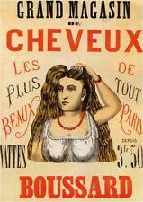 Vintage Advertisment Poster Grand Magasin de Cheveux WIA080 A4 A3 A2 A1