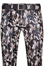 Lederjeans neu Lederhose camouflage leather trousers pants  Pantalon Cuir Pelle