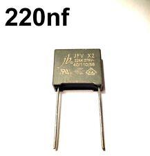 Condensateur X2 220nF 0,22uF 0,22µF 224K 275V AC Trame des prises 15mm