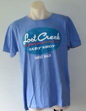 Pull & Bear Mens Printed T Shirt  - BLUE- SIZES - S, L,  XL & XXL - NEW