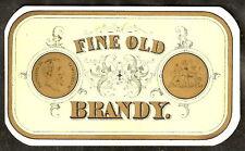 Early Bottle Label FINE OLD BRANDY Napoleon 3 Lempereur