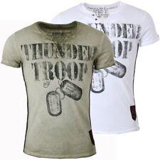 Key Largo Herren T-Shirt Thunder Troop Army Militär Print vintage Look  Slimfit a686605024