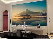 3D Mountain Boat  75 Wall Paper Murals Wall Print Wall Wallpaper Mural AU Lemon
