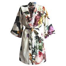 ESSENZA Kimono Morgenmantel Fleur Ecru Weiß Blumen Blüten Rosen Pflanzen