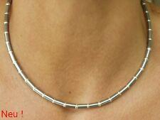 Neue Titan Titanium Halskette Collier bicolor 925 Silber Kugeln Herren Damen III