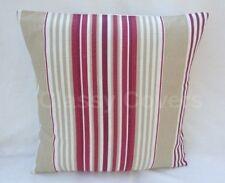 "Laura Ashley Designer Cushion Cover ""IRVING STRIPE"" Cranberry Various Sizes"