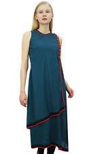 kurta indien bleu turquoise de Phagun drapée Kurti longue blouse casual tunique