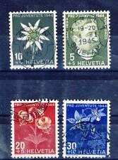 TIMBRE DE SUISSE OBLITERE SERIE  DU N° 399/402 POUR LA JEUNESSE