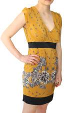 Darling Mustard Felicity Dress S-XL UK 10-16 RRP �65 Hourglass Floral Tie Belt