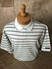 New Nwt Mens Pringle L, Xl, 2X/3X White w Green Stripes Polo Style Golf Shirt