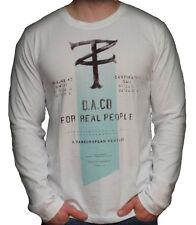 Timezone T-shirt weiß longsleeve Broken Techno Top Neu Angebot Herren  22-0207
