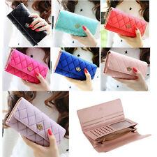 Fashion Women Lady Fux Leather Clutch Wallet Long Card Holder Purse Handbag