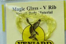 1 x MAGIC GLASS JAUNE 1mm nymph peche fliegen fly fishing trout tying yellow